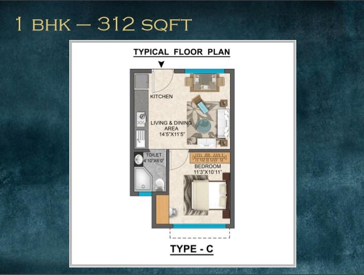 ozone one residences apartment 1bhk 312sqft 1