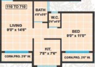 panvelkar prestige phase 2 apartment 1bhk 218sqft 01