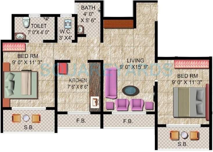 panvelkar realtors classic apartment 2bhk 920sqft1