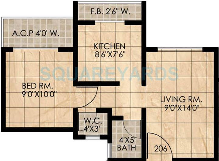 panvelkar realtors homes apartment 1bhk 550sqft1