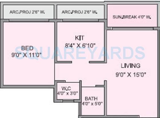 panvelkar realtors optima apartment 1bhk 638sqft1