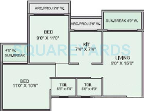 panvelkar realtors optima apartment 2bhk 864sqft1
