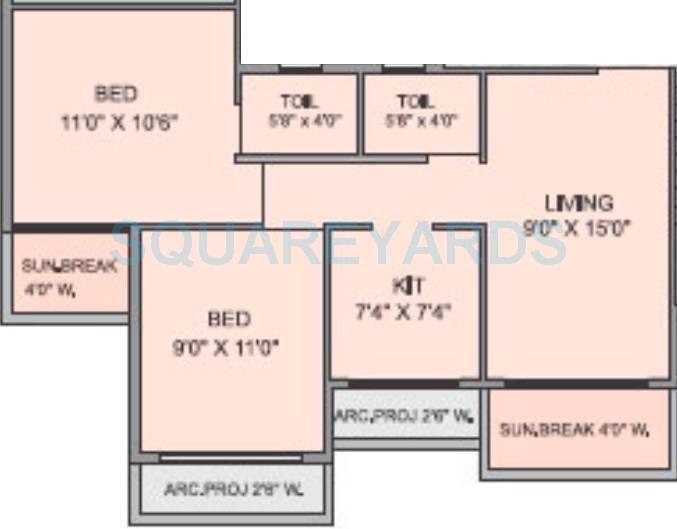 panvelkar realtors optima apartment 2bhk 887sqft1