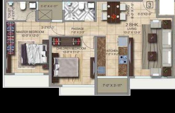 paradigm ananda residency apartment 3bhk 1051sqft91