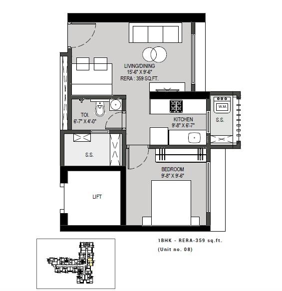 paradigm antalya apartment 1 bhk 359sqft 20205030125056