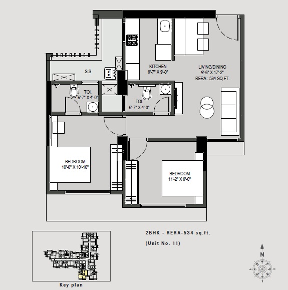 paradigm antalya apartment 2 bhk 534sqft 20204930124927