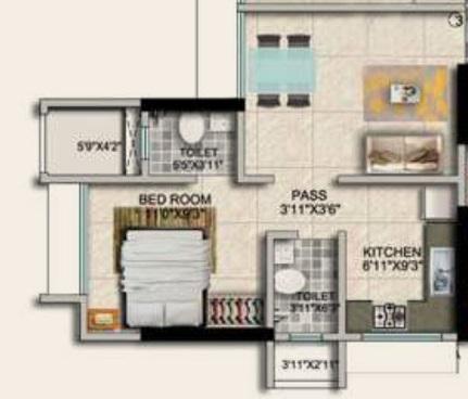 paradigm ariana residency apartment 1bhk 376sqft21