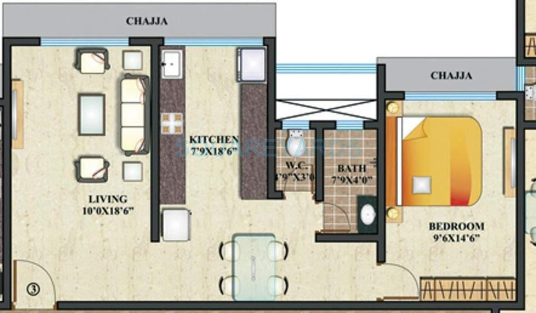 paranjape schemes geetanjali apartment 1bhk 558sqft 1