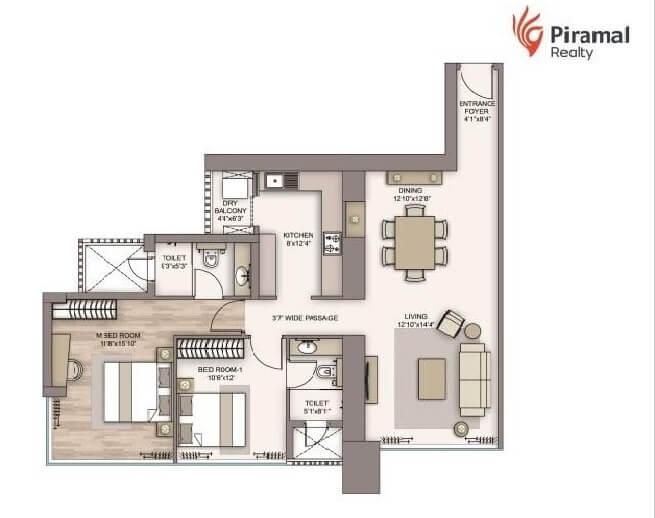 piramal aranya apartment 2bhk 1087sqft 1