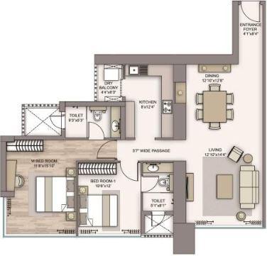 piramal aranya avyan apartment 2bhk 1087sqft 1
