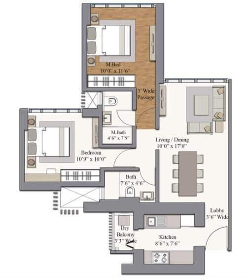 piramal revanta ravin apartment 2bhk 655sqft 1