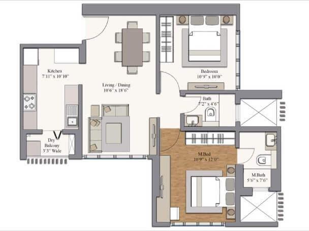 piramal revanta ravin apartment 2bhk 660sqft 1