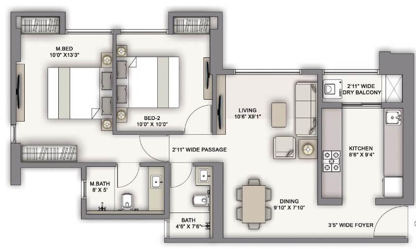 piramal vaikunth vairat apartment 2bhk 698sqft 1