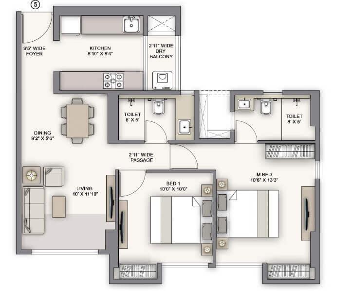 piramal vaikunth vijit apartment 2bhk 710sqft 1