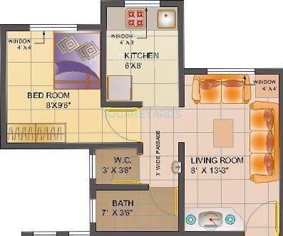 poddar housing samruddhi complex apartment 1bhk 625sqft1