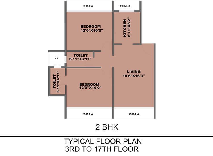 prajapati opal apartment 2bhk 702sqft 1