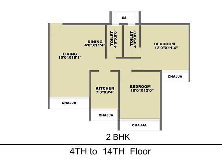 prajapati ornate apartment 2bhk 775sqft 1