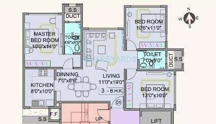 pride park royale apartment 3bhk 852sqft 1