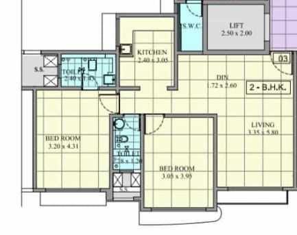 pride royal park apartment 2 bhk 926sqft 20201010171001