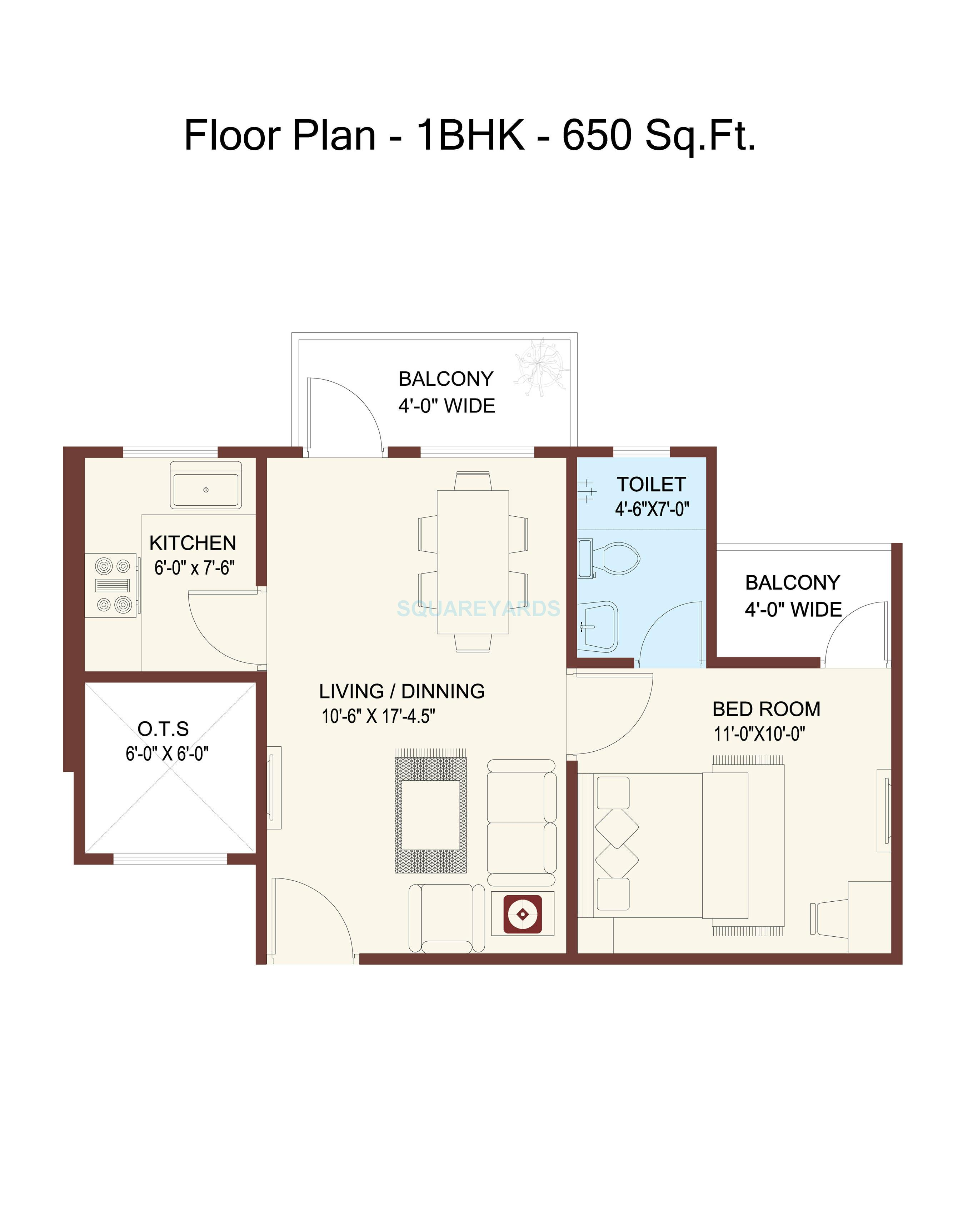 650 sq ft floor plan apartment for Floor plans 700 square foot apartment