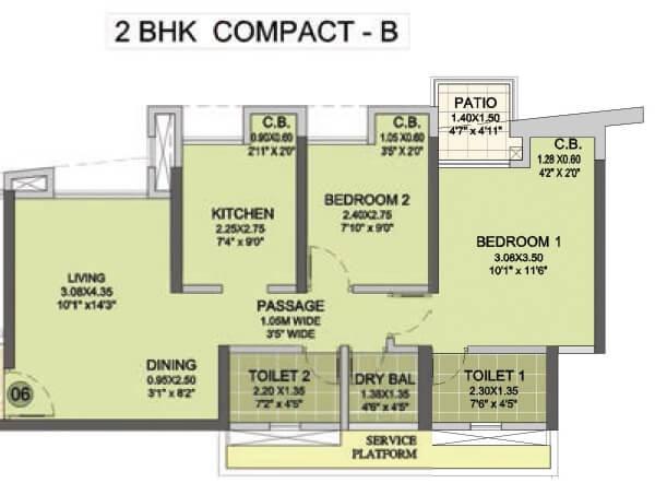 puraniks city reserva apartment 2bhk 963sqft 1