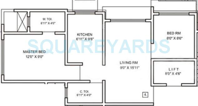 raj corp rameshwaram apartment apartment 2bhk 850sqft1