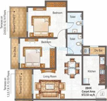 raunak paradise apartment 2bhk 980sqft1