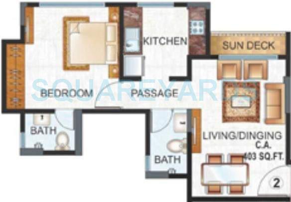 raunak unnathi woods apartment 1bhk 625sqft1