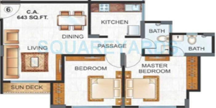 raunak unnathi woods apartment 2bhk 985sqft1