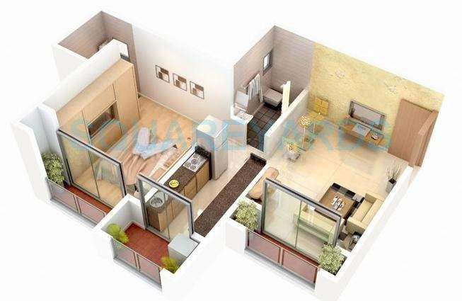 ravi group gaurav discovery apartment 1bhk 745sqft1