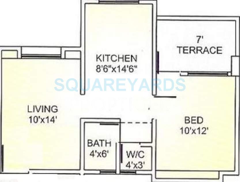 ravi group gaurav saffron apartment 1bhk 680sqft1