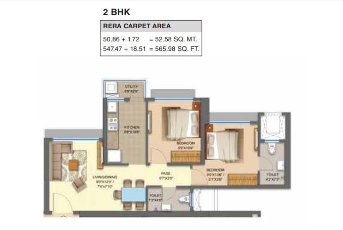 runwal avenue broadway apartment 2 bhk 566sqft 20212301112338