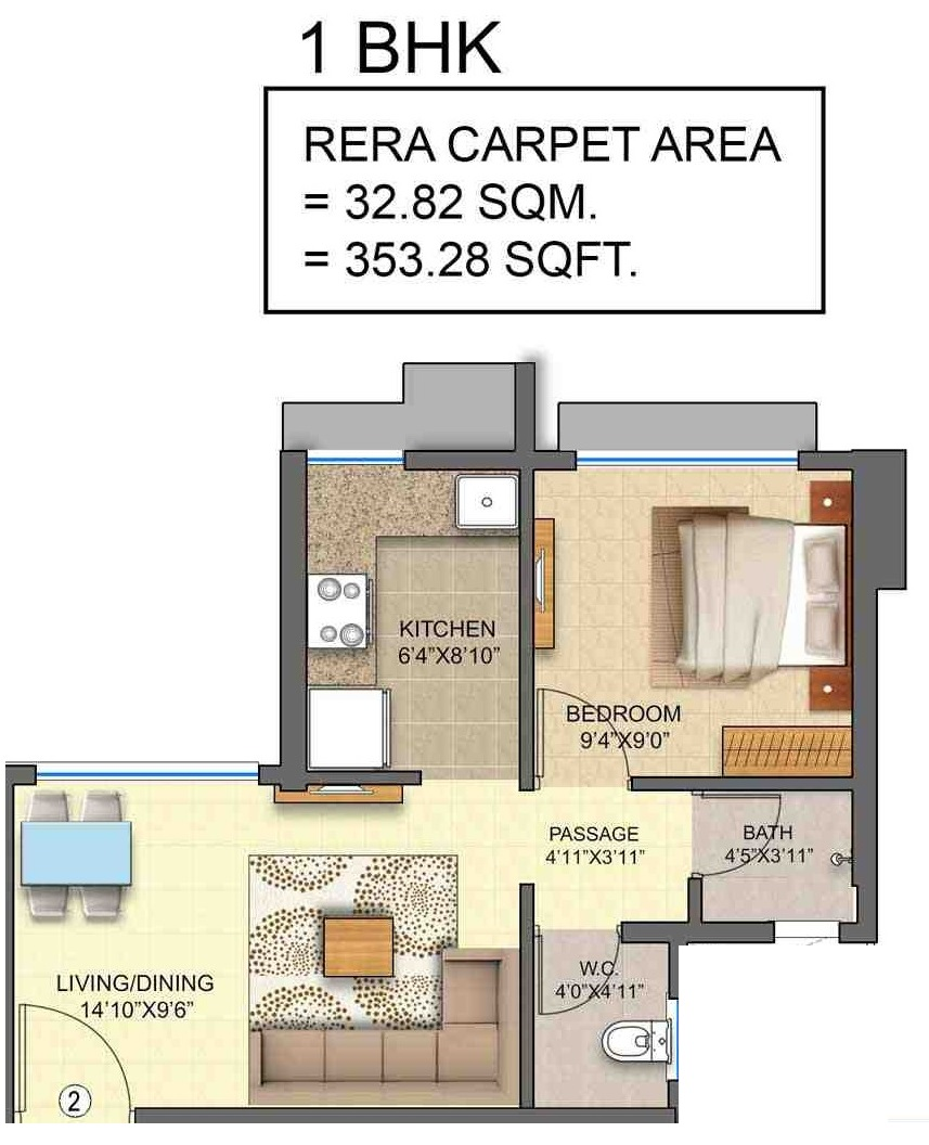 runwal avenue wing j apartment 1 bhk 353sqft 20212823142810