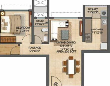 runwal bliss wing e apartment 1bhk 537sqft01