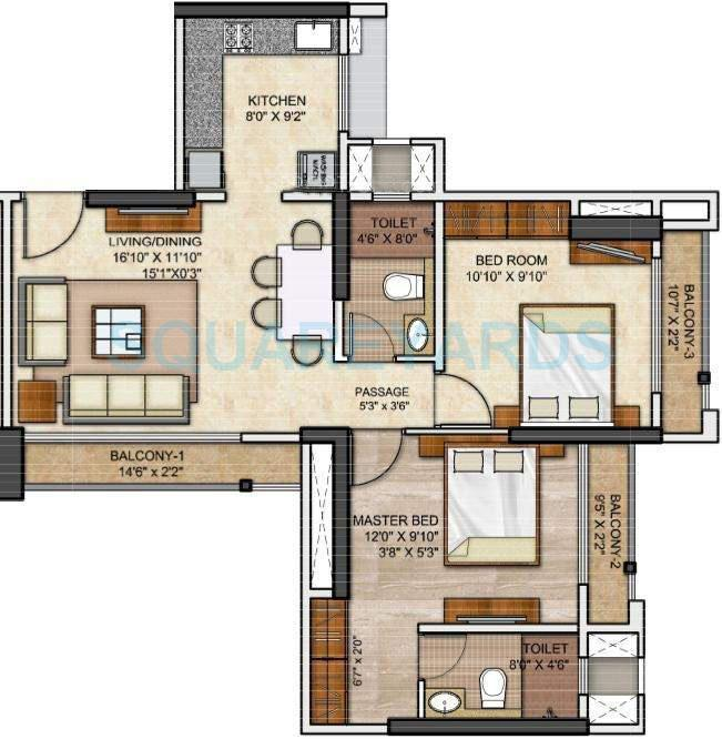 runwal eirene apartment 2bhk 1075sqft1