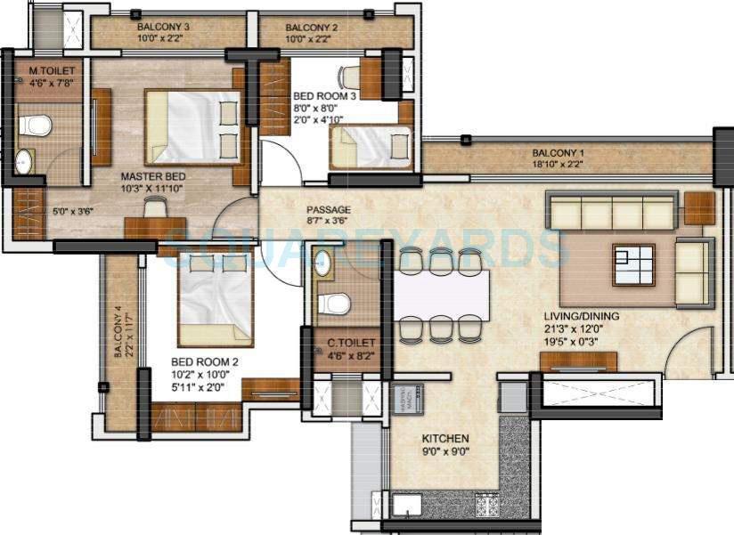 runwal eirene apartment 3bhk 1315sqft1