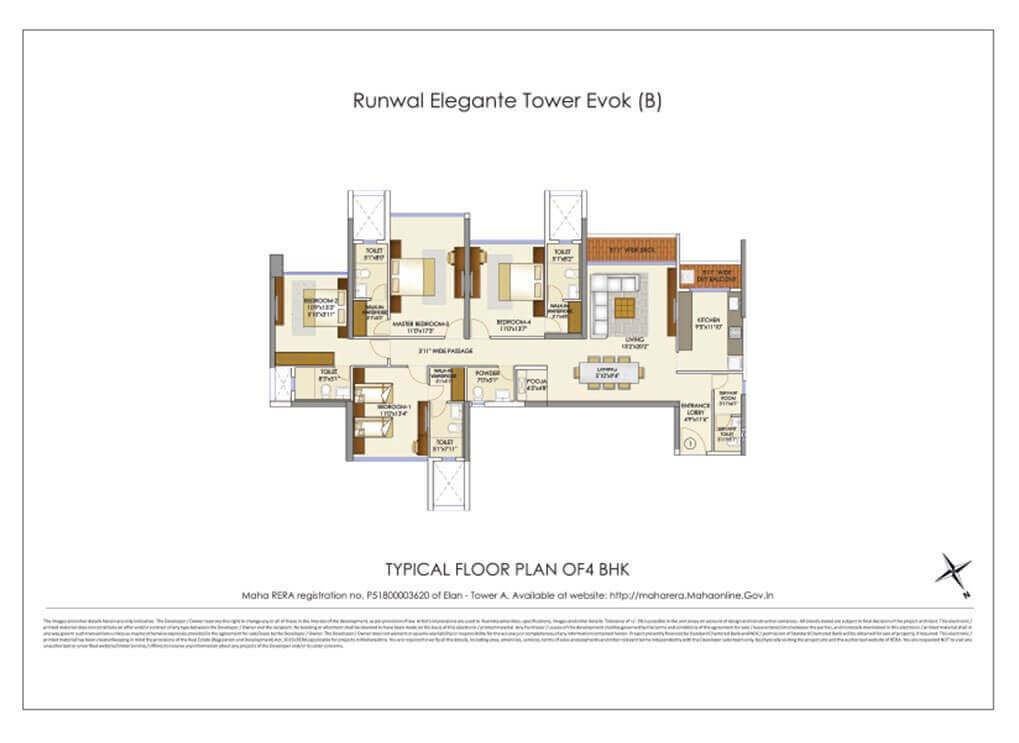 runwal elegante apartment 4bhk 1670sqft111