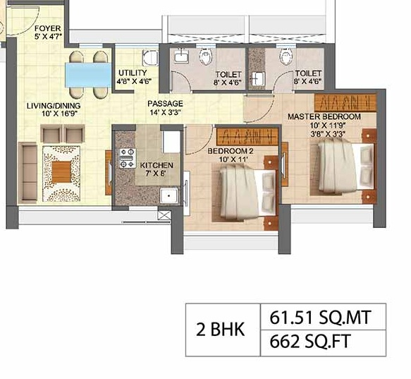 runwal forest orchid apartment 2bhk 662sqft41