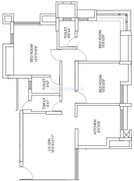 runwal garden city apartment 3bhk 1335sqft1
