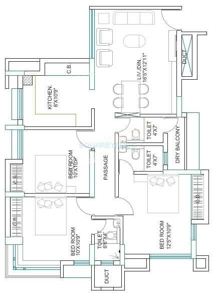 runwal garden city apartment 3bhk 1675sqft1