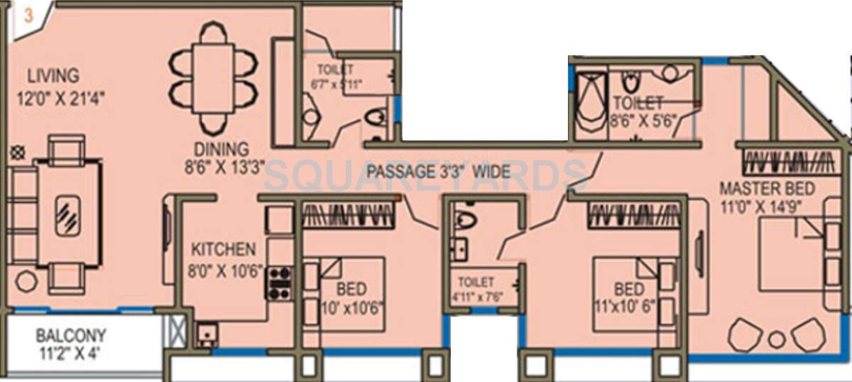 runwal grand apartment 3bhk 1665sqft1