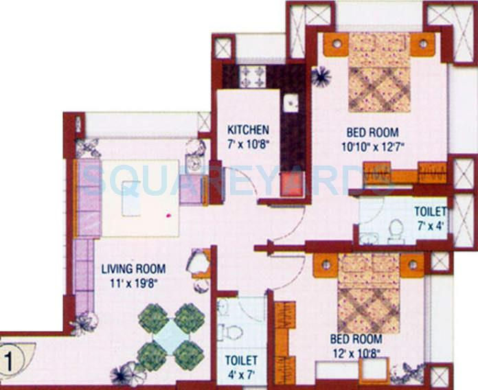 runwal hills apartment 2bhk 950sqft1
