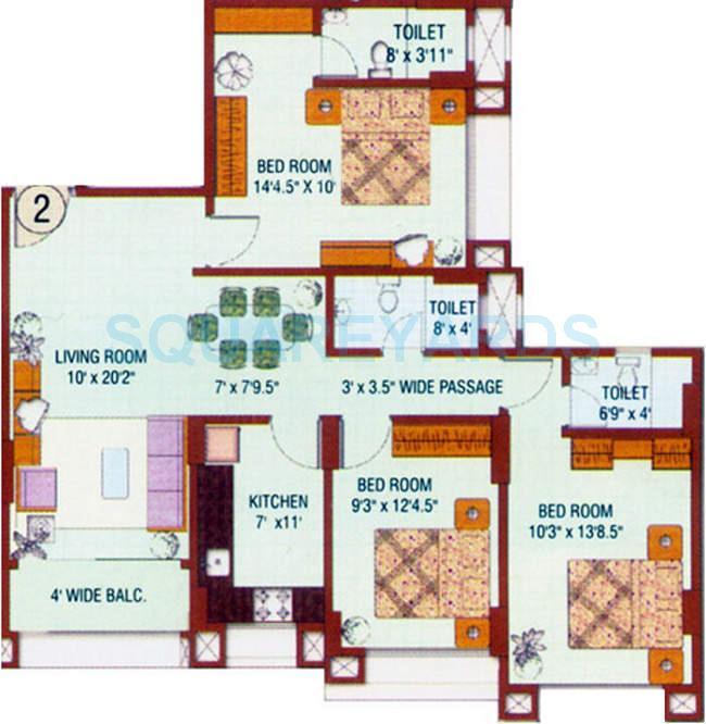 runwal hills apartment 3bhk 1275sqft1