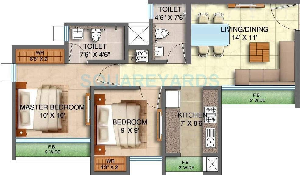runwal my city apartment 2bhk 870sqft1
