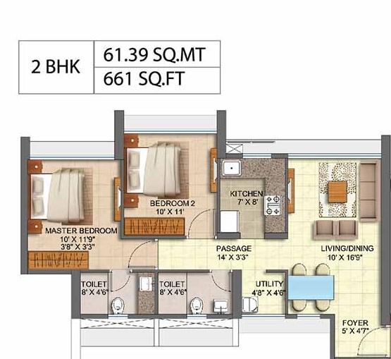 runwal oak apartment 2bhk 661sqft21