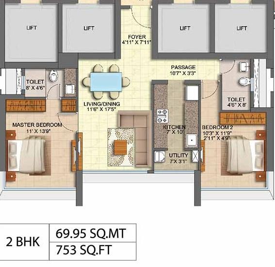 runwal oak apartment 2bhk 753sqft41