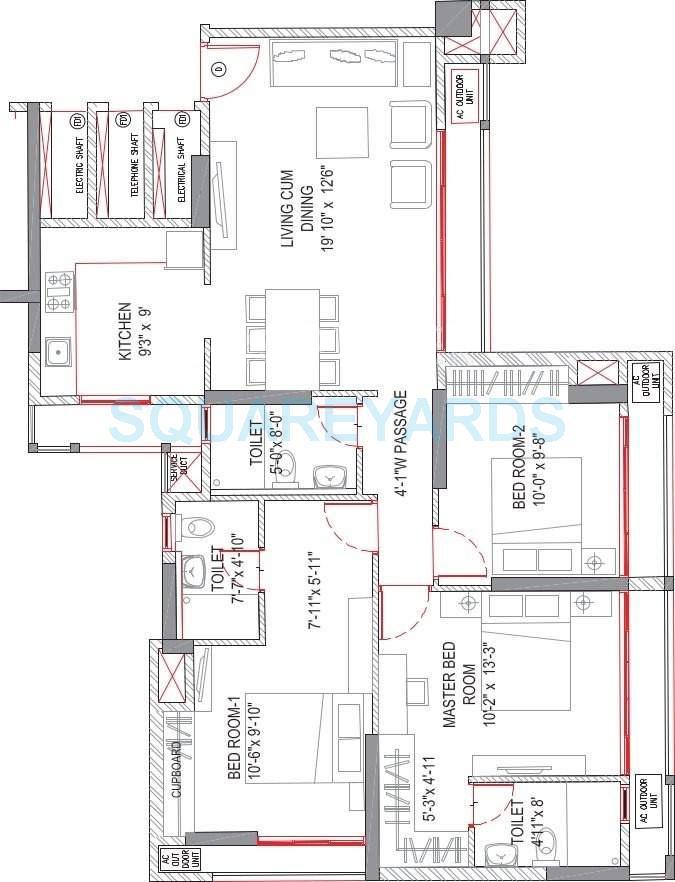 runwal pearl apartment 3bhk 1215sqft1