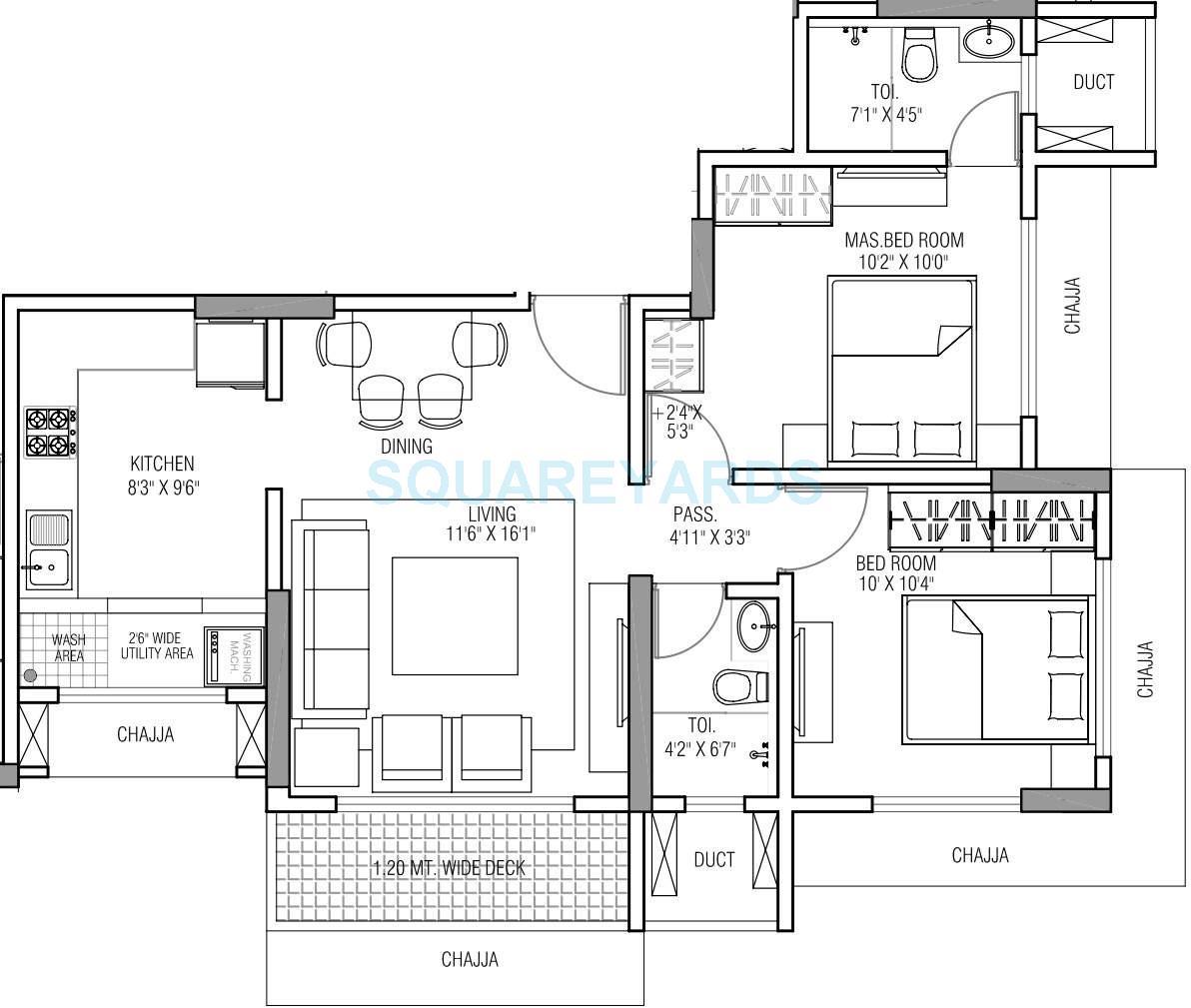 runwal serene apartment 2bhk 970sqft1