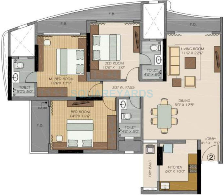 runwal symphony apartment 3bhk 1665sqft1