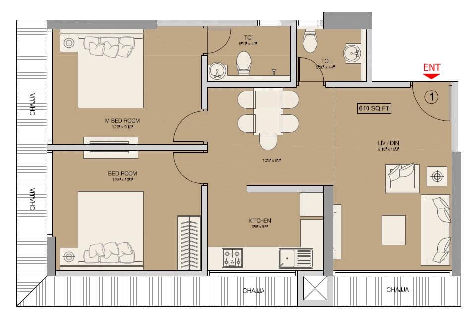 ruparel regalia apartment 2bhk 1005sqft 1